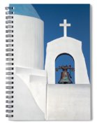 Greek Island Church Spiral Notebook