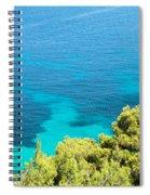 Greek Sea View Spiral Notebook