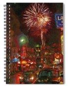 Greektown Night Spiral Notebook