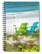 Green And Blue Chairs Spiral Notebook