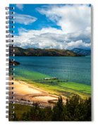 Green And Blue Lake Spiral Notebook