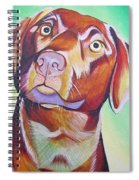 Green And Brown Dog Spiral Notebook