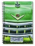 Green And Chrome-hdr Spiral Notebook