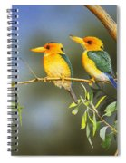 Green And Gold - Yellow-billed Kingfishers Spiral Notebook