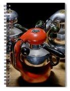 Green And Orange Atomic 1 Spiral Notebook