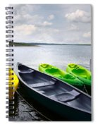 Green And Yellow Kayaks Spiral Notebook