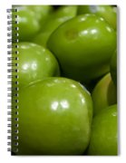 Green Apples On Display At Farmers Market Spiral Notebook