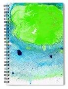 Green Blue Art - Making Waves - By Sharon Cummings Spiral Notebook