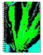 Green Blue Plant Abstract Spiral Notebook