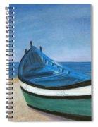 Green Boat Blue Skies Spiral Notebook