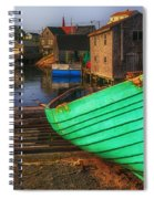 Green Boat Peggys Cove Spiral Notebook
