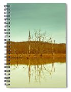 Green Bottom In Winter Spiral Notebook