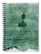 Green Buoy - Barnegat Inlet - New Jersey - Usa Spiral Notebook