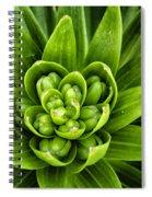Green Buds Spiral Notebook