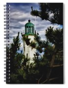 Green Copper Lantern Room On Scituate Lighthouse Spiral Notebook