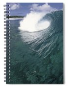 Green Curl Spiral Notebook