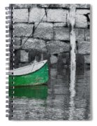 Green Dinghy Floating Spiral Notebook