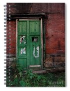 Green Door On Red Brick Wall Spiral Notebook