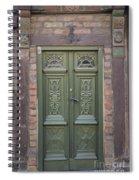 Green Door Ystad Spiral Notebook