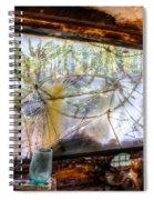 Green Drinking Glass And Smoky Bronken Windshield Spiral Notebook