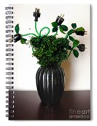 Green Energy Floral Arrangement Of Electrical Plugs Spiral Notebook