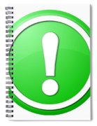 Green Exclamation Point Button Spiral Notebook