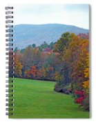 Green Field In The Fall Spiral Notebook