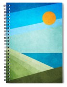 Green Fields Blue Waters Spiral Notebook