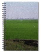 Green Fields With Birds In Kerala Spiral Notebook