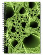 Green Filigree Spiral Notebook