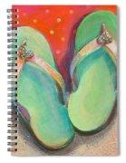 Green Flip Flops Spiral Notebook