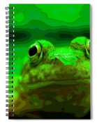 Green Frog Poster Spiral Notebook
