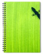 Green Gecko Leaf Spiral Notebook