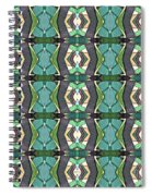 Green Geometric Abstract Pattern Spiral Notebook