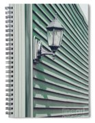Green Geometry Spiral Notebook