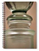 Green Glass Bottle Spiral Notebook