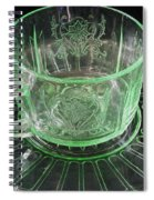 Green Glass Cup And Saucer Spiral Notebook