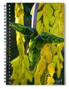 Green Glass Leaves Spiral Notebook