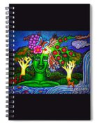 Green Goddess With Waterfall Spiral Notebook