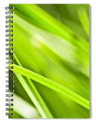 Green Grass Abstract Spiral Notebook