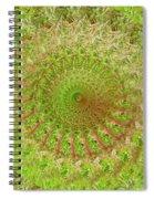 Green Grass Swirled Spiral Notebook