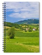 Green Hills Nature Panoramic View Spiral Notebook