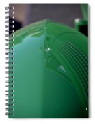 Green Hotrod Spiral Notebook