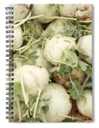 Green Kohlrabi Basket Display Spiral Notebook