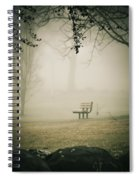 Green Lane On A Foggy Morning Spiral Notebook