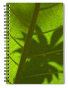 Green Leaves Series 3 Spiral Notebook
