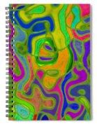 Green Metallica Abstract Spiral Notebook