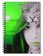 Green Moon Spiral Notebook