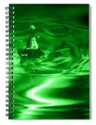 Green Multi Colored Water Drop Bubbling Spiral Notebook