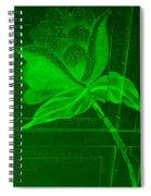 Green Negative Wood Flower Spiral Notebook